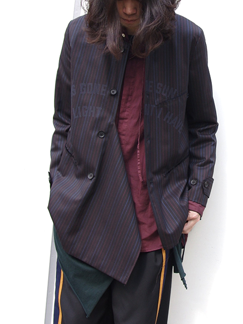 "【16AW】 BED J.W. FORD (ベッドフォード) ""Message Jacket Ver.2"" <ジャケット> - STRIPE"