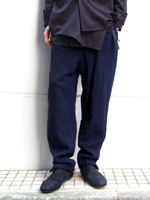"【16AW】 BED J.W. FORD (ベッドフォード) ""trackpants."" <トラックパンツ> - NAVY"
