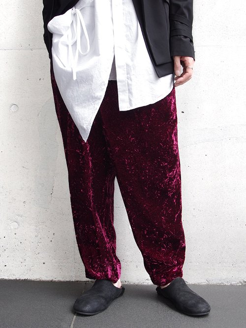 "【17AW】 BED J.W. FORD (ベッドフォード) ""Wrapped Trousers."" <パンツ> - REDDISH"