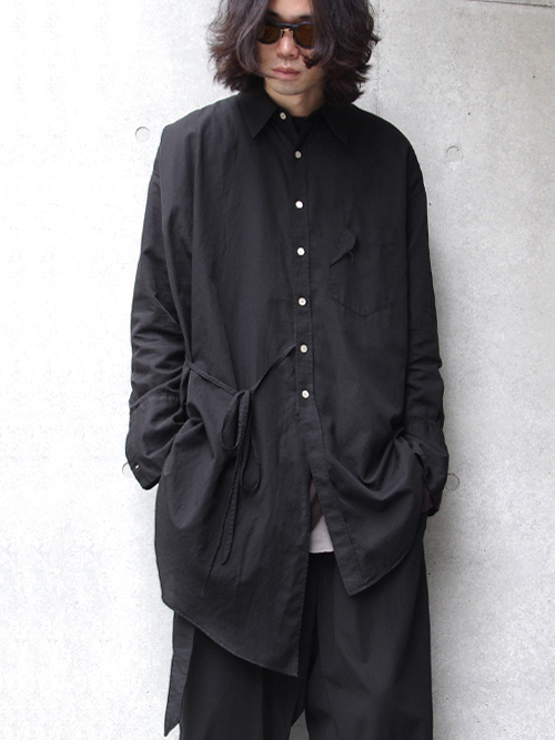 "【17AW】 BED J.W. FORD (ベッドフォード) ""Scarf Shirt. "" <シャツ> - BLACK"
