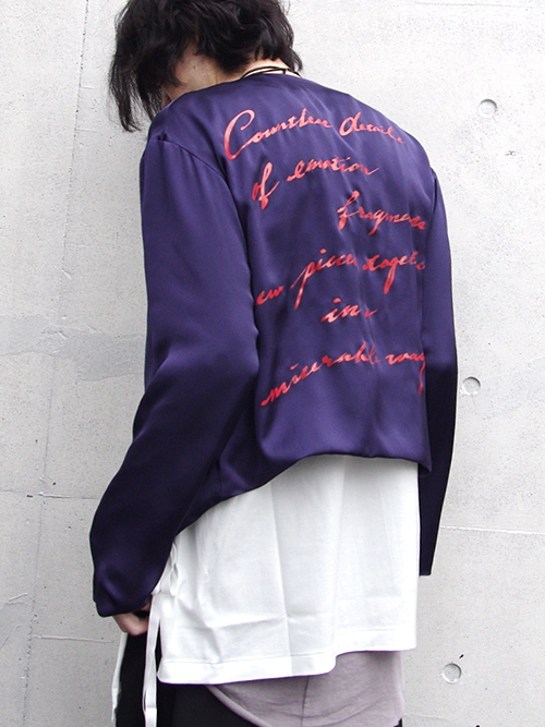 "【17SS】 BED J.W. FORD (ベッドフォード) ""Buttonless."" <シャツジャケット> - PURPLE"