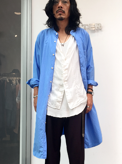 "BED J.W. FORD (ベッドフォード) ""Wrapped Shirt."" <シャツ> - SAXEBLUE"
