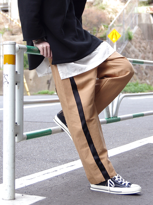 "【17SS】 BED J.W. FORD (ベッドフォード) ""two lines wide."" <ワイドパンツ> - CAMEL"
