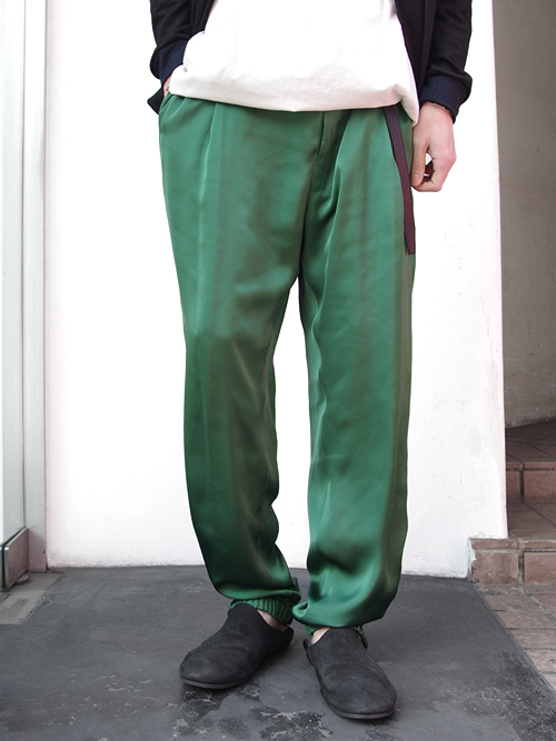 "【17SS】 BED J.W. FORD (ベッドフォード) ""Track Trousers. Ver.1"" <トラックパンツ> - GREEN"
