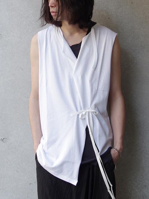 "【18SS】 BED J.W. FORD (ベッドフォード) ""No sleeve."" 18SS-B-CS06 <カットソー> - WHITE"