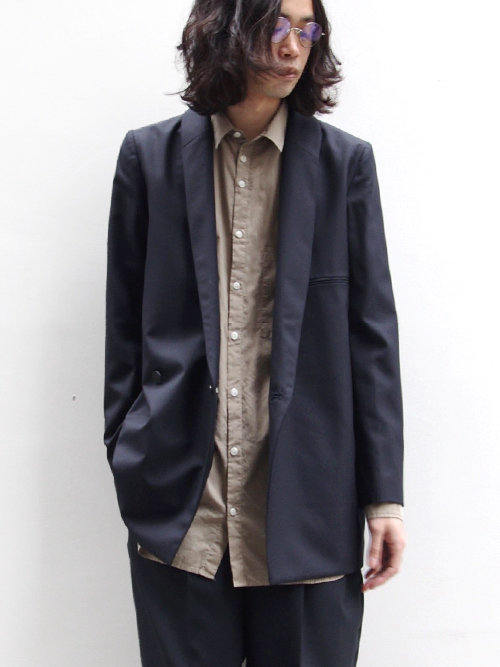 "Edwina Horl  (エドウィナホール) // ""TAILORED JACKET"" <テーラードジャケット> - DARK NAVY"
