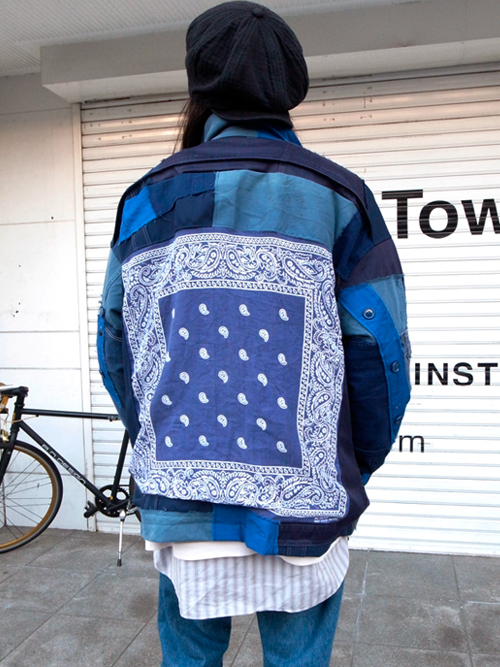 "GILET (ジレ) ""REMAKE PATCHWORK JACKET No.2"""