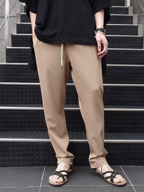 "<17SS>Iroquois (イロコイ) ""VITA DRAPE 2WAY TWILL"" <イージースラックス> - BEIGE"