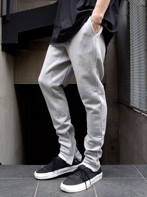 "JieDa(ジエダ)  ""SWEAT ZIP PANTS"" - GRAY <スウェットパンツ>"