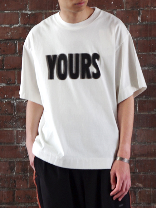 "JieDa(ジエダ)  ""YOURS BIG T-SHIRT"" <Tシャツ/カットソー> - WHITE"
