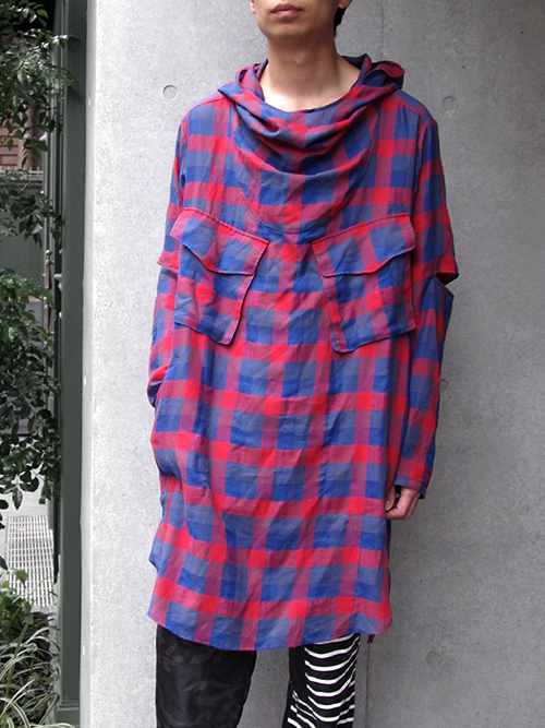 "【SALE】 JUVENILE HALL ROLLCALL[ジュベナイル・ホール・ロールコール] ""P/O CHECK SHIRT""1070"" <プルオーバーシャツ> - RED CHECK"