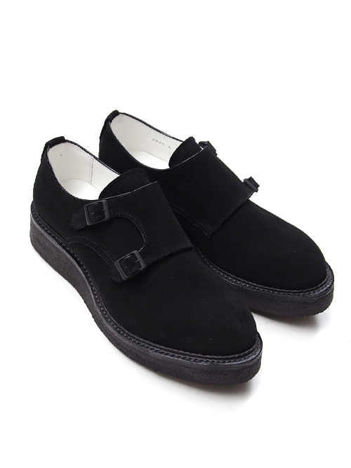 "■KIDS LOVE GAITE 【キッズラブゲイト】 ""DOUBLE MONK SHOES"" <ダブルモンクシューズ> KLGM-17AW0905 - BLACK SUEDE(スエード)"