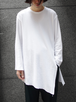 "【17AW】 BED J.W. FORD (ベッドフォード) ""Back Henry Neck."" <カットソー> - WHITE"