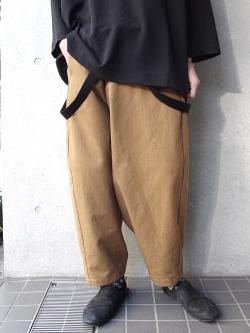 """【19SS】 my beautiful landlet (マイビューティフルランドレット)  """"cotton big pants"""" <サスペンダーパンツ>"""