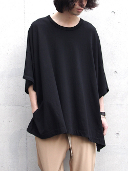 "【17SS】 wizzard (ウィザード)  ""WIDE CUTSEW"" <ワイドカットソー> - BLACK"