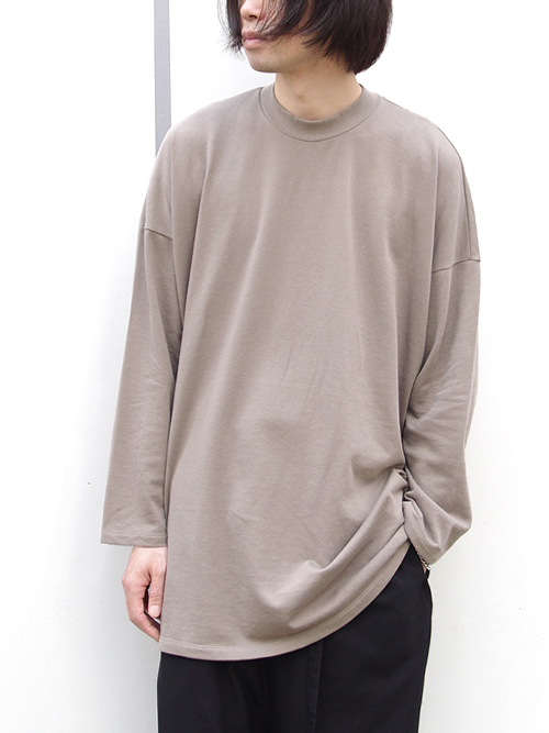 "【18AW】 my beautiful landlet (マイビューティフルランドレット)  ""mini fleecy BIG L/S tee"" <スウェット/カットソー> - BEIGE"