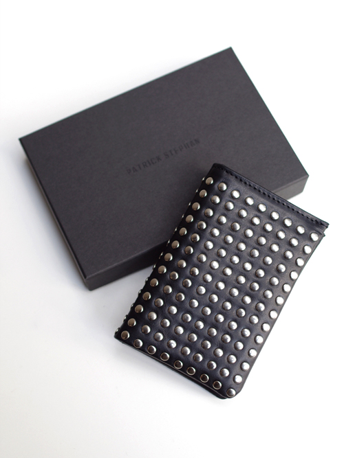 PATRICK STEPHAN (パトリックステファン) Leather card case 'all-studs' - SILVER STUDS #106AAO13  <名刺入れ/カードケース>