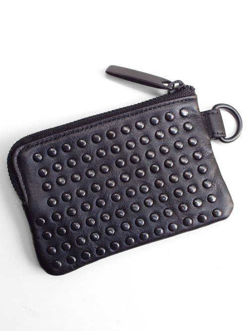 PATRICK STEPHAN (パトリックステファン) Leather coin case 'all-studs' - DAL STUDS #106AWA08  <レザーコインケース>