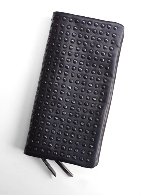 PATRICK STEPHAN (パトリックステファン) Leather long wallet 'all-studs' - DAL STUDS #106AWA06  <レザーウォレット/長財布>