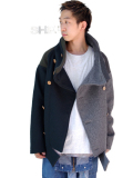 "AlexanderLeeChang�ʥ��쥭��������꡼������ ""2tone sakasama P-coat"" - GRAY��GREEN"" ��P�����ȡ�"