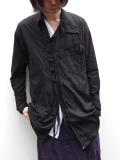 "【18AW】 BED J.W. FORD (ベッドフォード) ""China shirt"" 18AW-B-BL03 <シャツ>  - BLACK"