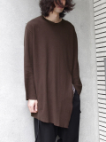 "【18AW】 BED J.W. FORD (ベッドフォード) ""Back henry neck"" 18AW-B-CS04 <カットソー>  - CHOCOLATE"