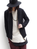 "BED J.W. FORD (ベッドフォード) ""Zip Up Cardigan."" <カーディガン> - BLACK"