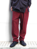 "【16AW】 BED J.W. FORD (ベッドフォード) ""trackpants."" <トラックパンツ> - BORDEAUX"