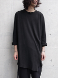 "【17AW】 BED J.W. FORD (ベッドフォード) ""Back Henry Neck."" <カットソー> - BLACK"
