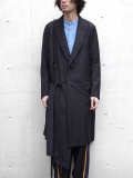 "【17SS】 BED J.W. FORD (ベッドフォード) ""BATTLE DRESS SCARF COAT. Ver.2"" <コート> - BLACK"