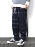 "Edwina Horl  (���ɥ����ʥۡ���) // ""WIDE PANTS"" ��磻�ɥѥ�ġ� - NAVY �� WHITE CHECK"