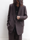 "��16AW�� Edwina Horl  (���ɥ����ʥۡ���) // ""WOOL TAILORED JACKET"" ��ơ��顼�ɥ��㥱�åȡ� - AGELESS BROWN"