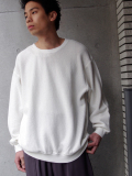 "<18SS>Iroquois (イロコイ) ""20/2 PARALLELED YARN L/S ルーズシルエットカットソー"" - WHITE"