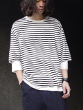 "【17SS】 wizzard (ウィザード)  ""LAYERED CUTSEWN"" <レイヤードカットソー> - WHITE BORDER"