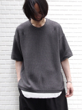 "【18SS/別注】 wizzard × SHELTER (ウィザード)  ""WIDE SUMMER KNIT"" <ワイドサマーニット> - MIDDLE GRAY"