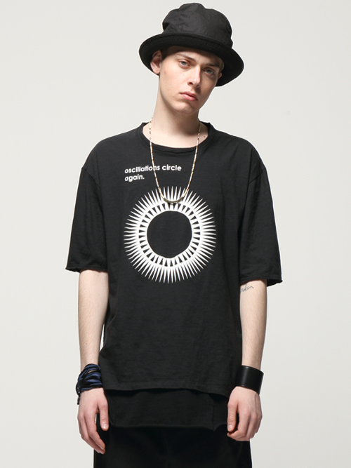 "【予約商品】 wizzard (ウィザード)  ""PRINT C&S  ""Oscillations Circle Again"" <プリントTシャツ/カットソー>  - BLACK"