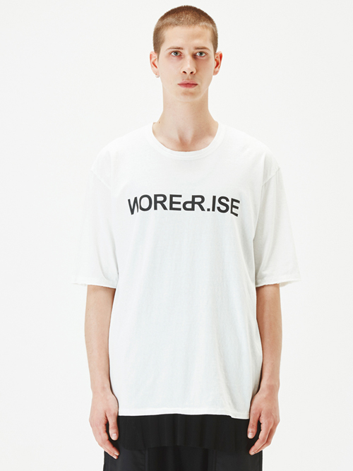 "【17AW】 wizzard (ウィザード)  ""PRINT C&S ""NOISE REPRISE"" <プリントTシャツ カットソー> WHITE"