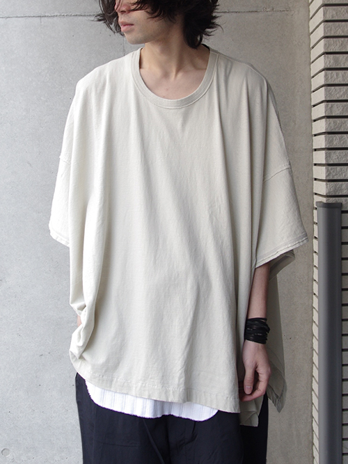 "【17SS】 wizzard (ウィザード)  ""WIDE CUTSEW"" <ワイドカットソー> - LIGHT GRAY"