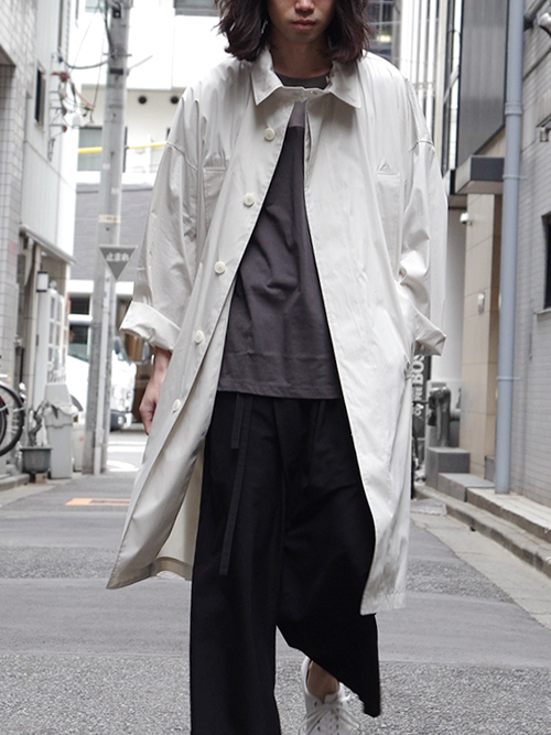"【18SS】 wizzard (ウィザード)  ""DOLMAN OVERCOAT"" <コート> - LT. GRAY"