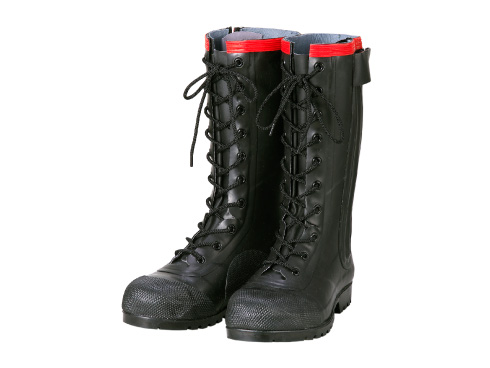 Antistatic Boots AE030 Rubber Safety Lace-up Boots Conductive Type / 静電気帯電防止長靴 AE030 安全編上長靴 導電タイプ