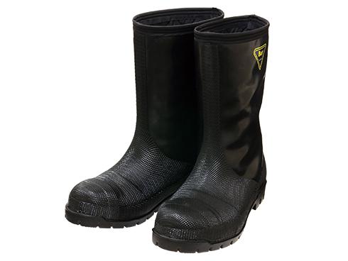 NR041 Cold Resistance Rubber Boots -40℃ (Black) / 冷蔵庫長-40℃(ブラック)