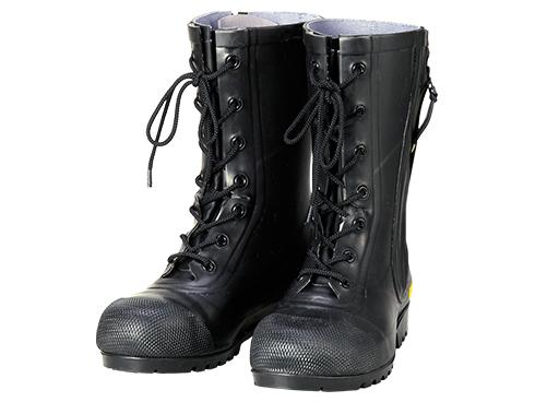 Safety Boots AF020  Rubber Half-Knee Boots for Firefighters SG201 / 安全長靴 AF020  消防団員用ゴム半長靴 SG201
