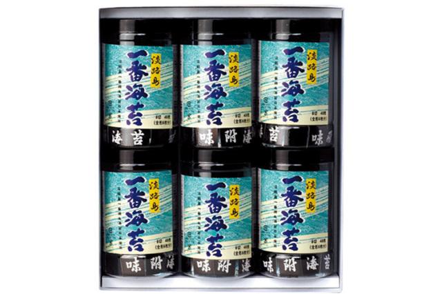 淡路島の一番摘みだけを贅沢に使用した極みの「淡路島一番海苔」セット(6本)(送料込)
