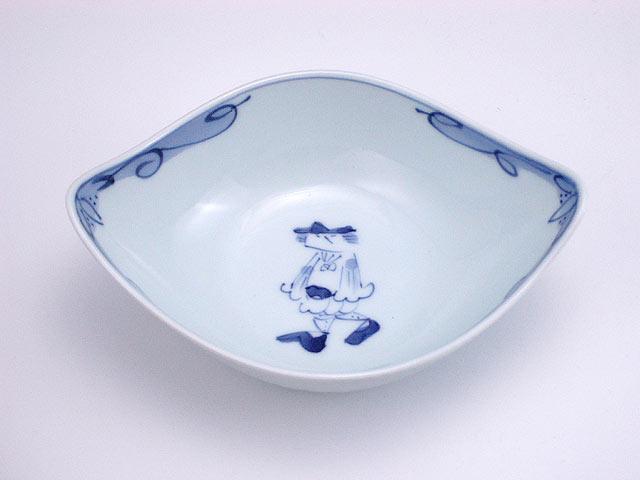 有田焼 青花 マント異人舟型小鉢