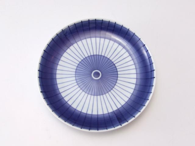 有田焼 青花匠 番傘4.7寸皿