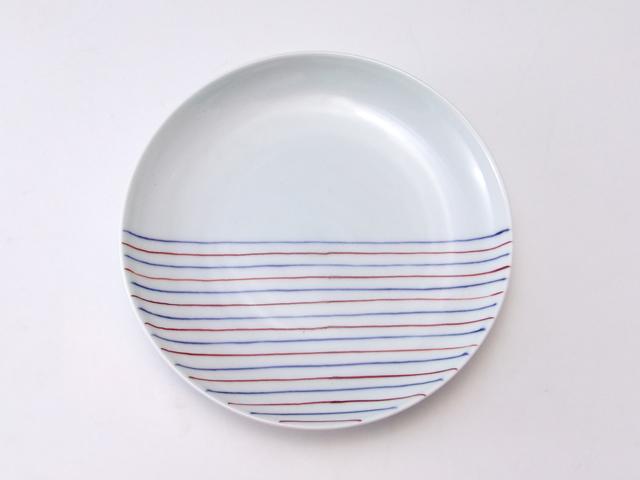 有田焼 青花匠 染錦十草4.7寸皿