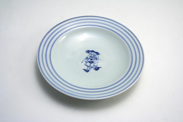 有田焼 青花 マント異人プチケーキ皿