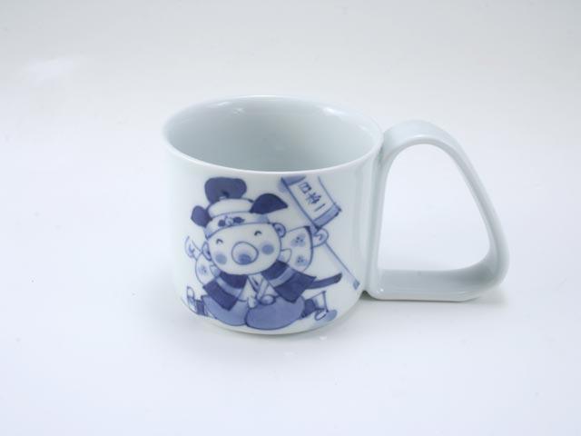 新桃太郎倒れにくいマグカップ(小) しん窯 青花