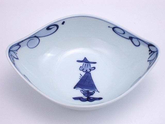 有田焼 青花 後姿舟型中鉢