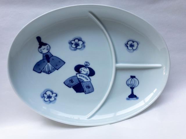 ひな人形仕切り皿